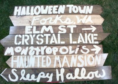 halloween street sign