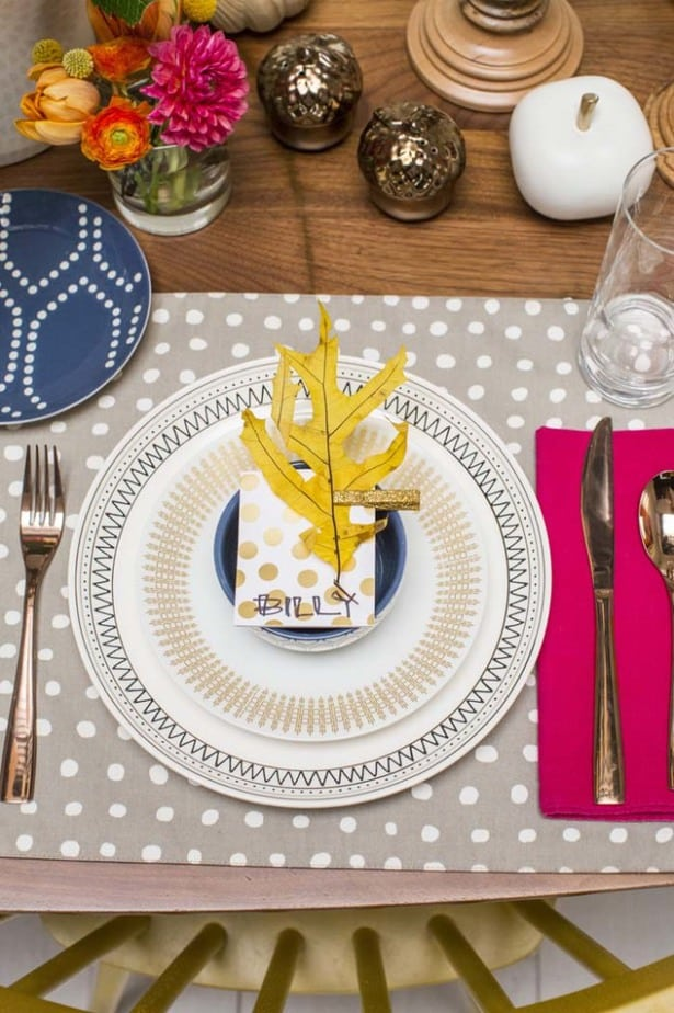 Adding pattern to your Thanksgiving tablescape Emily Henderson