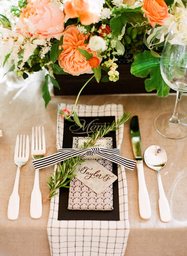 Peach Wedding or Thanksgiving Tablescape