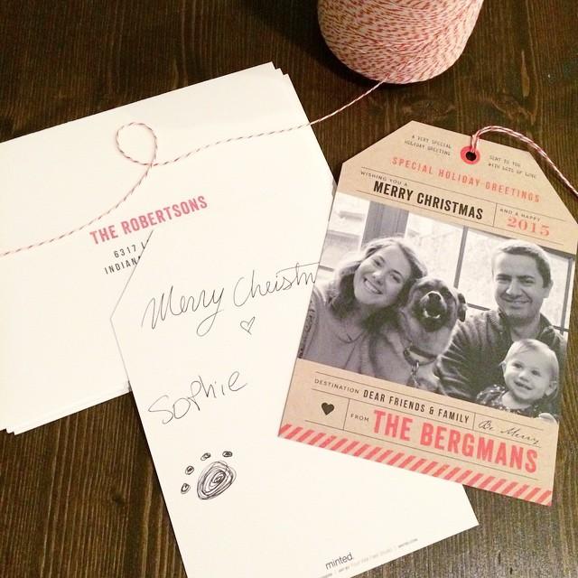 ❤️ doing my Christmas cards!