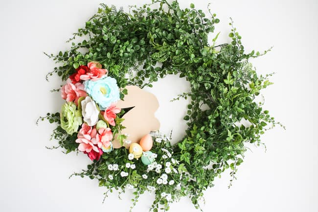 DIY Spring Easter Bunny Wreath