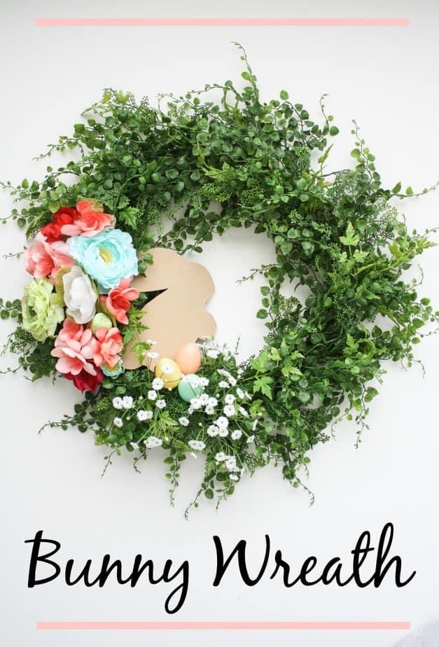 DIY Spring Easter Bunny Wreath