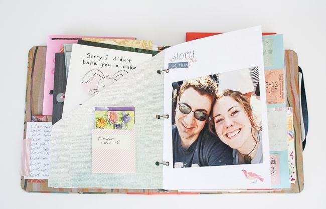 DIY Love Letters Scrapbook
