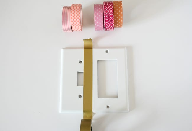 Washi Light Swtich Cover