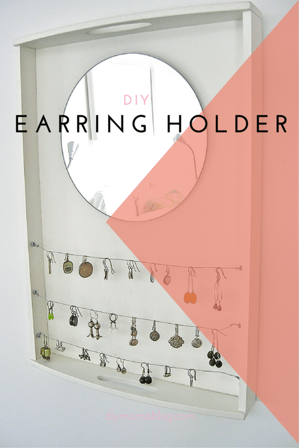 DIY earring holder by using a tray to organize