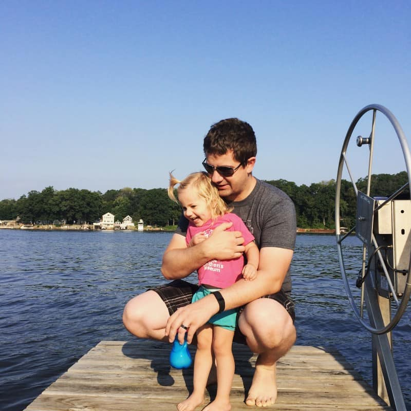 Daddy daughter at the lake