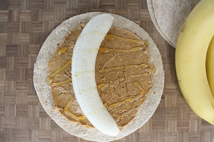 Peanut Butter Banana Sushi Roll