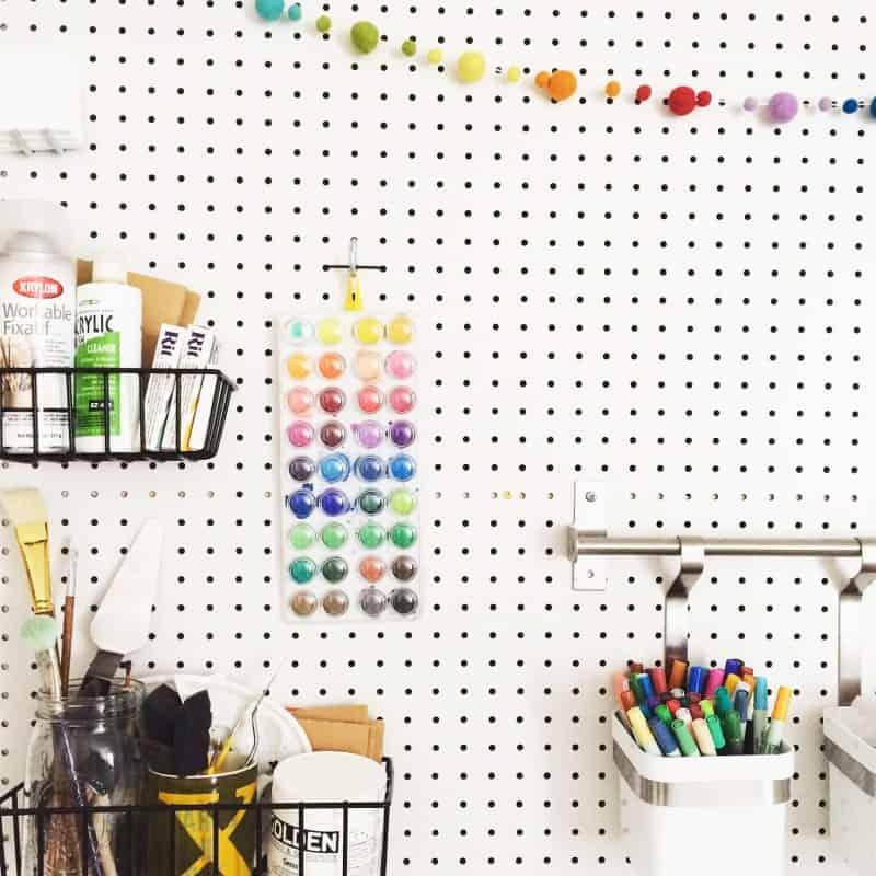 Peg Board Workspace