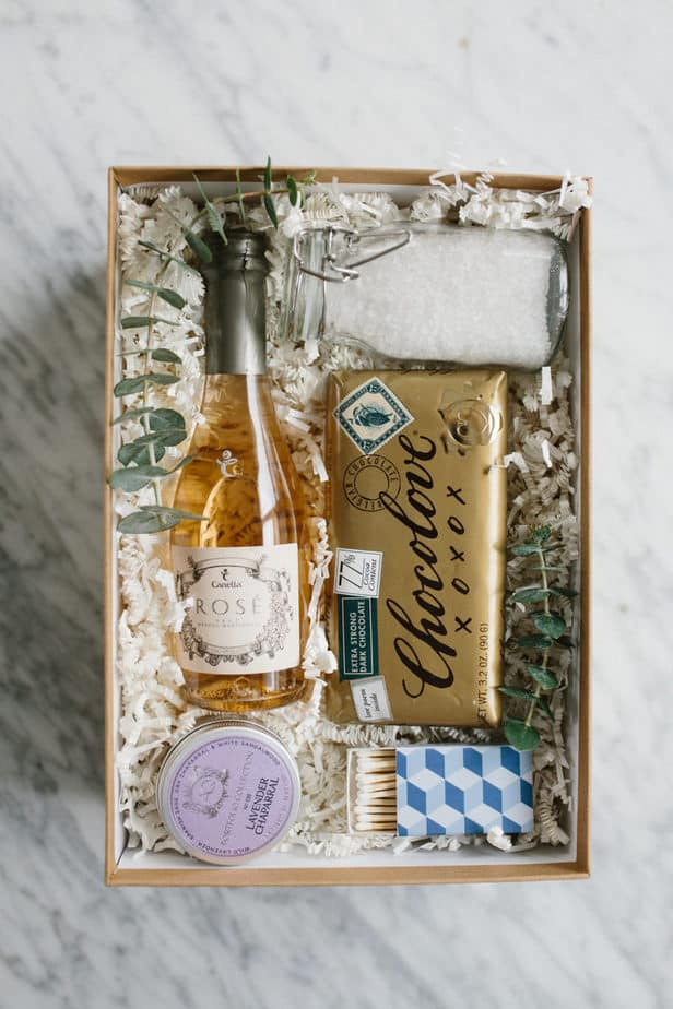 Bath gift box for visitors coming for Christmas.