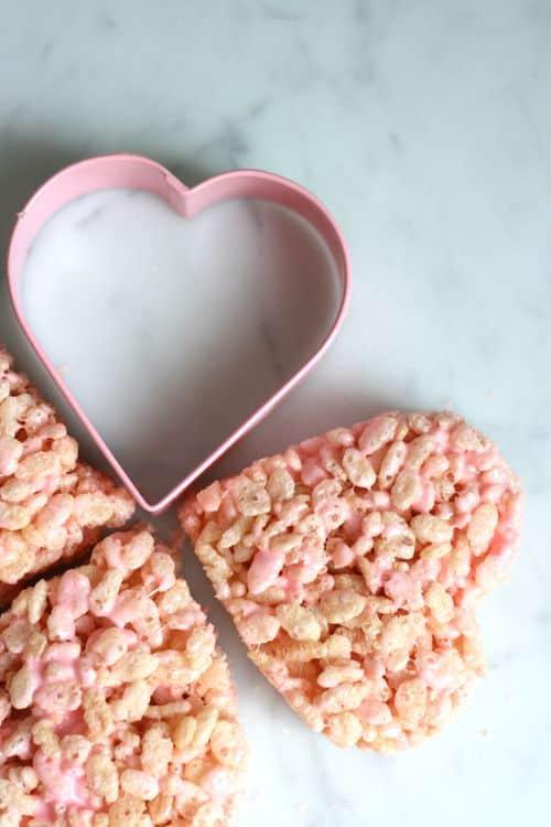 heart rice krispy treats