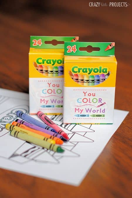 crayons valentine cards