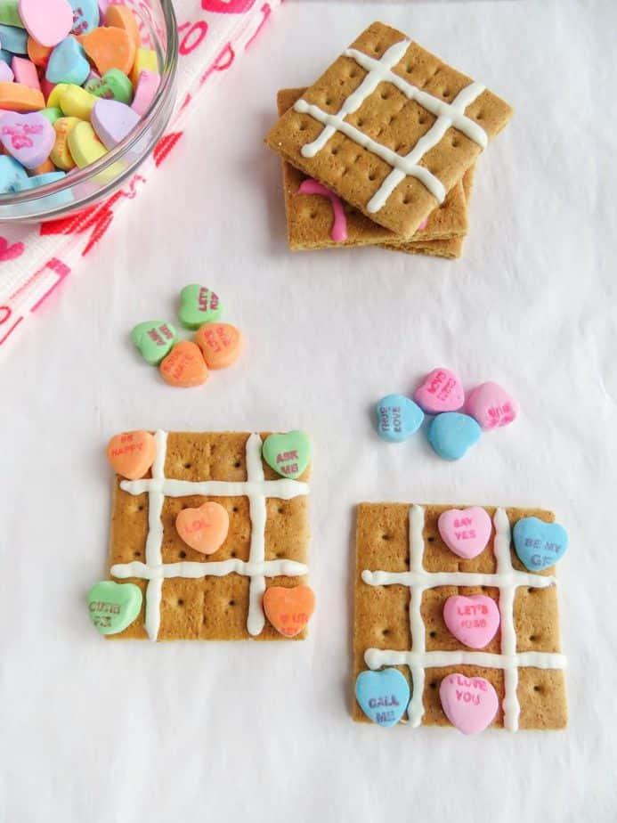tic tac toe valentine treats