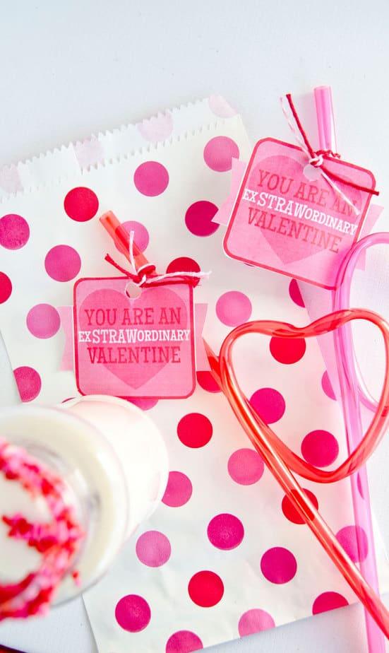 straw valentine printable