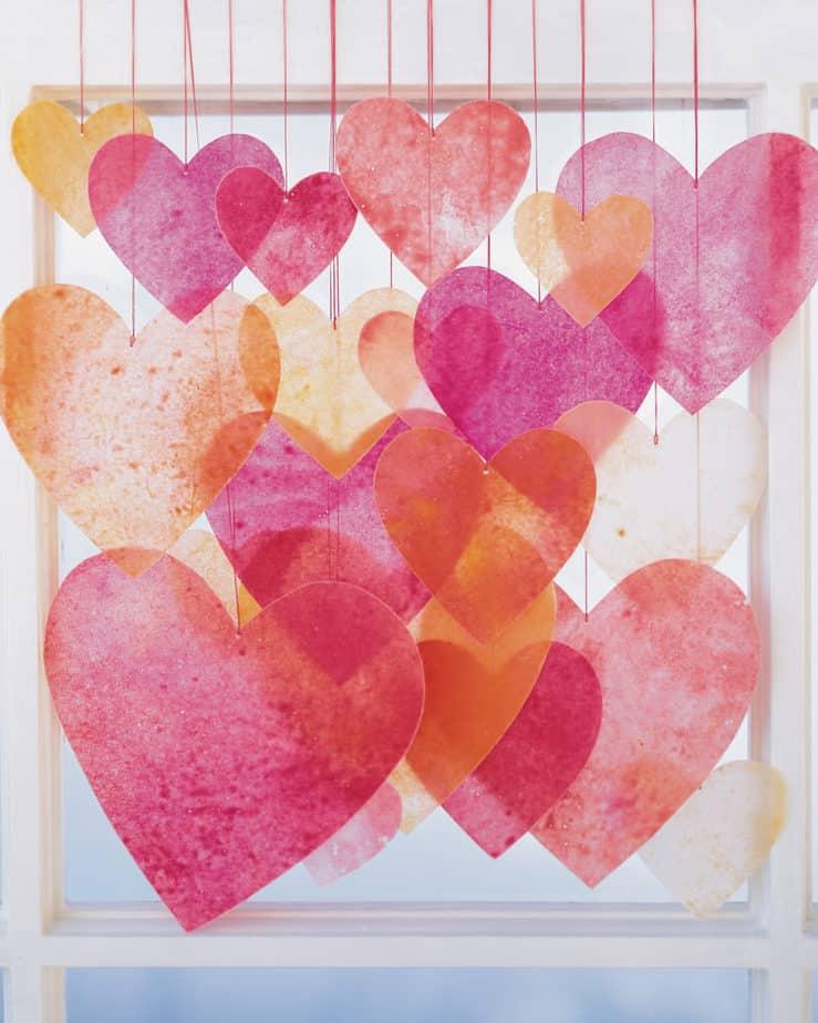 Martha Stewart wax heart mobile