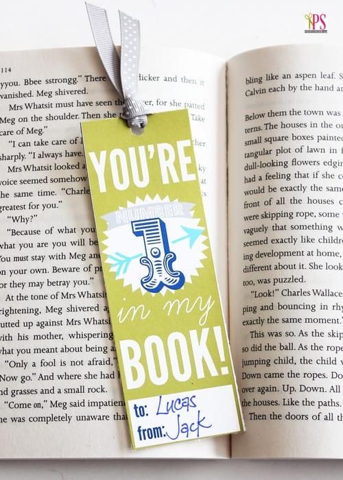 valentine bookmark