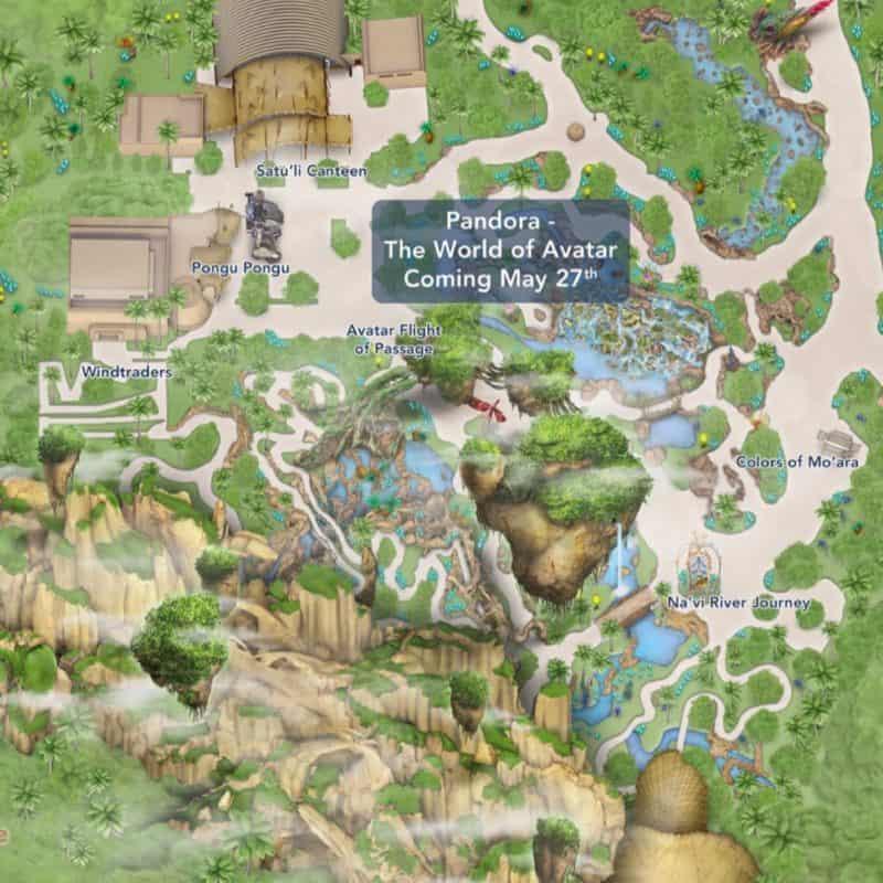 map of pandora world of avatar