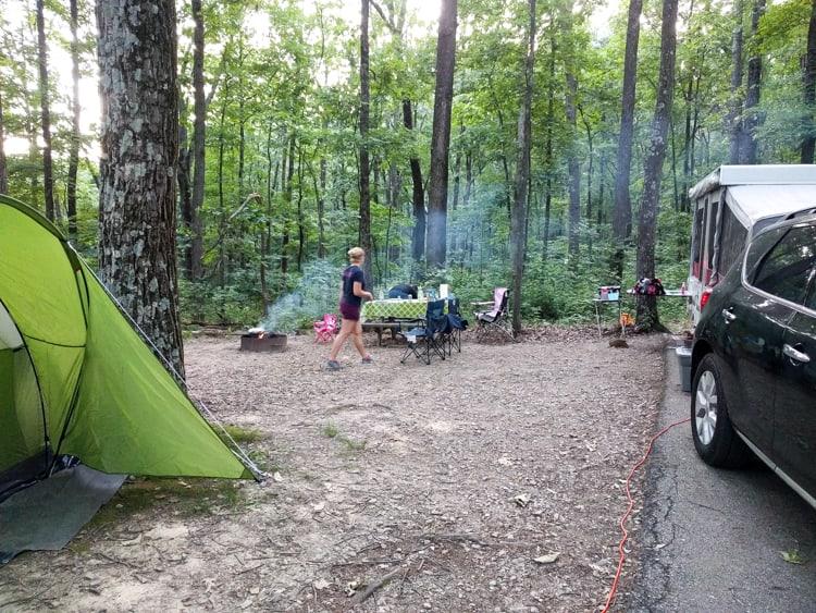 camping at brown county