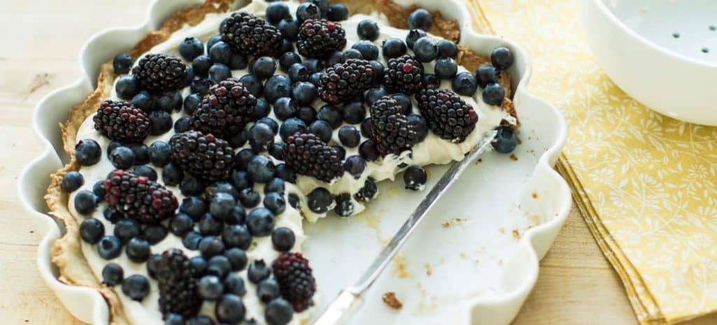 No Bake Mulberry Cheesecake