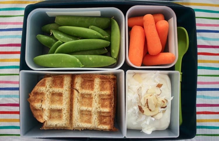 peanut butter jelly waffle sandwich for back to school lunch. Black Bedroom Furniture Sets. Home Design Ideas
