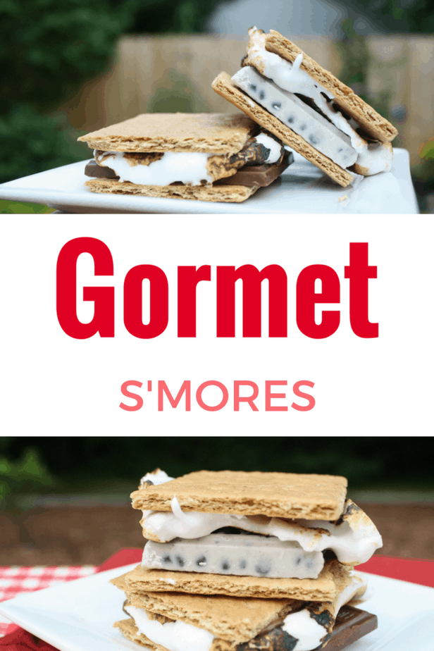 Tasty gormet s'mores recipe perfect for camping with kids.