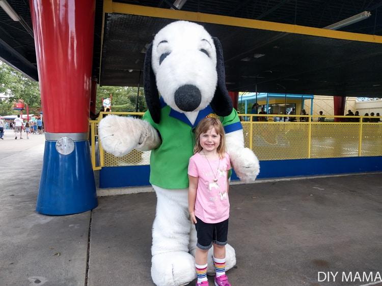 Snoopy at Kings Island Cedar Fair