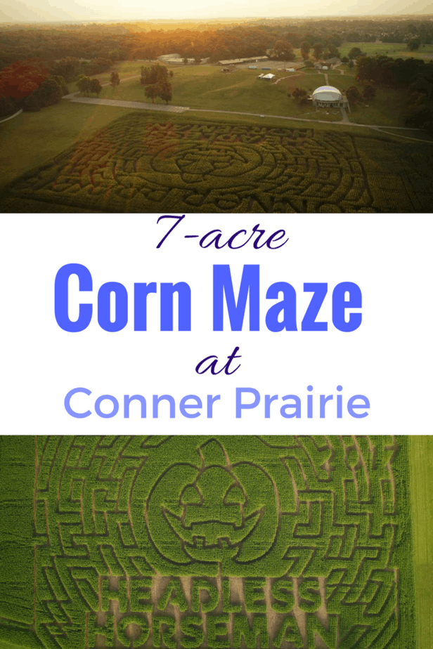 New 7-acre corn maze at Conner Prairie this fall for the Headless Horseman fall festival.