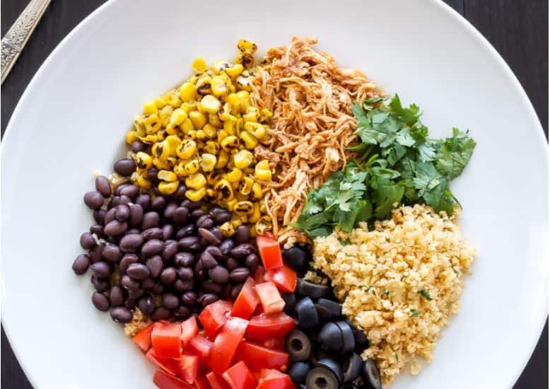 chicken enchilada rice bowls recipe