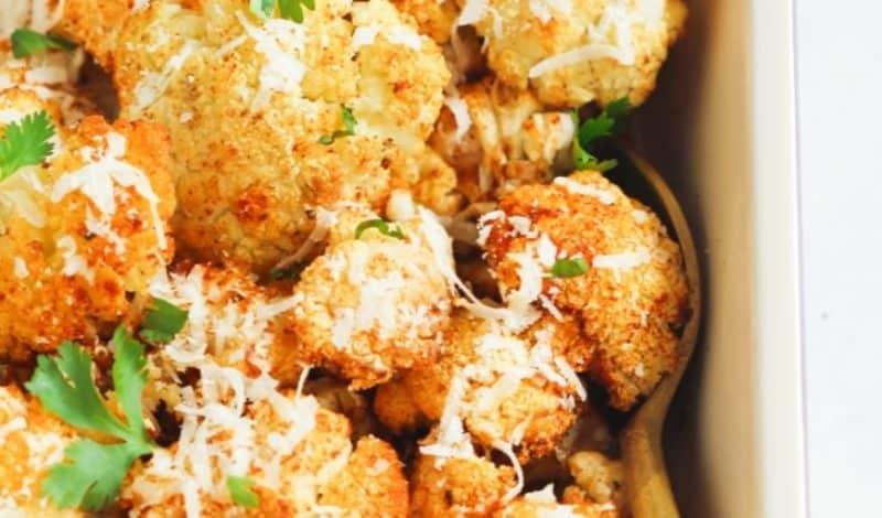 garlic roasted cauliflower bites recipe